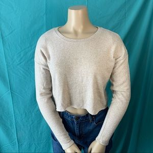 NWOT AMERICAN EAGLE SOFT & SEXY BEIGE CROPPED TOP